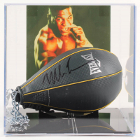 Mike Tyson Signed Everlast Speed Bag With Photo Display Case (PSA COA) at PristineAuction.com
