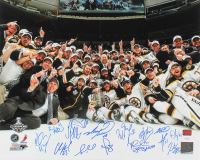 2011 Bruins Stanley Cup Team 16x20 Photo Signed by 15 (YSMS LOA & JSA Hologram) at PristineAuction.com
