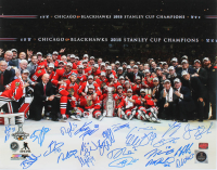 2015 Blackhawks Stanley Cup Team 16x20 Photo Signed by 23 (YSMS LOA) at PristineAuction.com