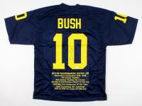 Devin Bush Signed Career Highlight Stat Jersey (TSE COA) at PristineAuction.com