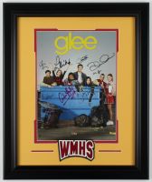 """Glee"" 19.5x23.5 Custom Framed Photo Cast Signed By (8) With Lea Michele, Cory Monteith, Chris Colfer, Dianna Agron (JSA ALOA) at PristineAuction.com"
