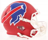 Josh Allen Signed Bills Full-Size AMP Alternate Speed Helmet (Beckett COA) at PristineAuction.com