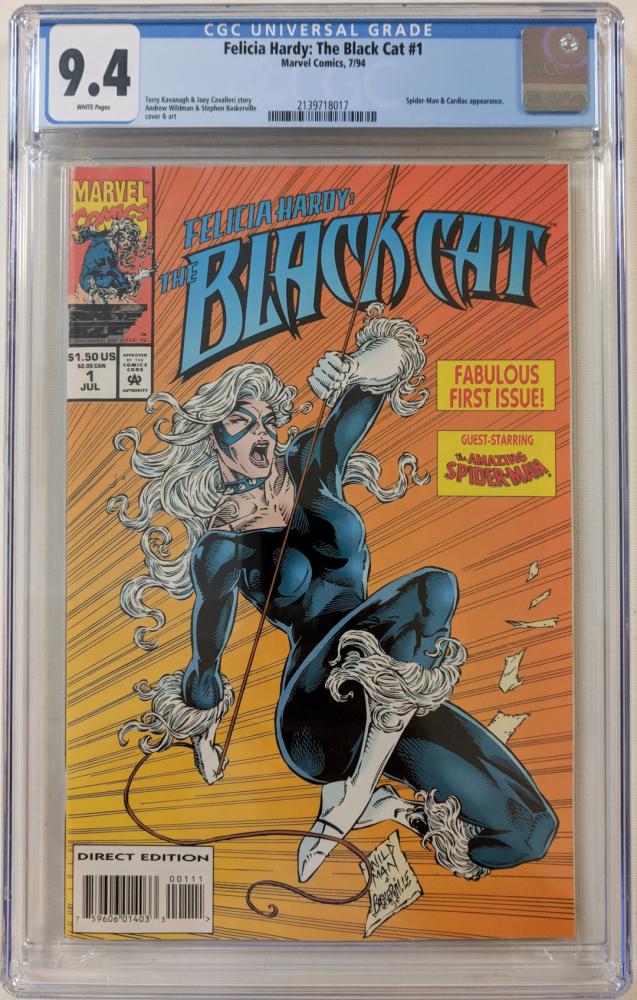 "1994 ""The Black Cat"" Issue #1 Marvel Comic Book (CGC 9.4) at PristineAuction.com"