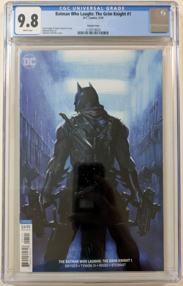 """2019 """"Batman Who Laughs: The Grim Knight"""" Issue #1 DC Comic Book (CGC 9.8) at PristineAuction.com"""