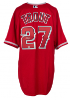 Mike Trout Signed Angels Majestic Jersey (MLB Hologram) at PristineAuction.com