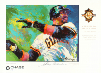 "LeRoy Neiman Signed ""A Tribute to Barry Bonds"" 14.5x24.5 Poster Print (PSA COA) at PristineAuction.com"