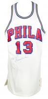 Wilt Chamberlain Signed 76ers Mitchell & Ness Jersey (Beckett LOA) at PristineAuction.com