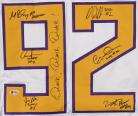 Hockey Jersey Cast-Signed by (6) with Matt Doherty, Jane Plank, Vincent LaRusso, Danny Tamberelli, Aaron Schwartz, Garette Ratliff Henson with Multiple Inscriptions (Beckett COA) at PristineAuction.com