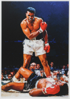 Muhammad Ali 12x17 Limited Edition Metal Art Print at PristineAuction.com
