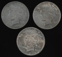 Lot of (3) $1 Peace Silver Dollar(s) at PristineAuction.com