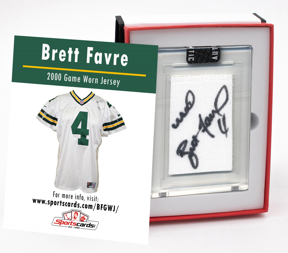 BRETT FAVRE 2000 GREEN BAY PACKERS GAME-WORN JERSEY MYSTERY SWATCH BOX! at PristineAuction.com