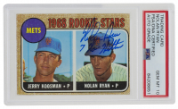 "Nolan Ryan Signed 1968 Topps #177 Rookie Stars / Jerry Koosman RC / Nolan Ryan RC Inscribed ""7 No - Hitters"" (PSA Encapsulated) at PristineAuction.com"