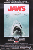 "Susan Backlinie Signed ""Jaws"" 24x36 Movie Poster Inscribed ""Chrissie"" & ""1st Victim 1975"" (JSA Hologram) at PristineAuction.com"