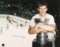 "Bobby Orr Signed Bruins ""The Flying Goal"" 16x20 Photo (Orr COA) (Imperfect) at PristineAuction.com"
