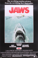 "Susan Backlinie Signed ""Jaws"" 24x36 Movie Poster Inscribed ""Chrissie"" & ""1st Victim 1975"" (JSA COA) at PristineAuction.com"