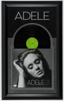 "Adele Signed ""21"" 19.5x31.5 Custom Framed Vinyl Record Album Display (JSA LOA) at PristineAuction.com"