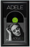 "Adele Signed ""21"" 19.5x31.5 Custom Framed Vinyl Record Album Display (JSA LOA) at PristineAuction.com"