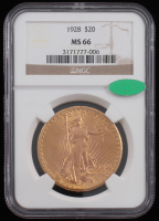 1928 $20 Saint-Gaudens Double Eagle Gold Coin (NGC MS 66) at PristineAuction.com