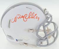 Nick Chubb Signed Browns White ICE Speed Mini Helmet (Beckett COA) at PristineAuction.com
