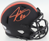 Jarvis Landry Signed Browns Eclipse Alternate Speed Mini Helmet (JSA COA) at PristineAuction.com