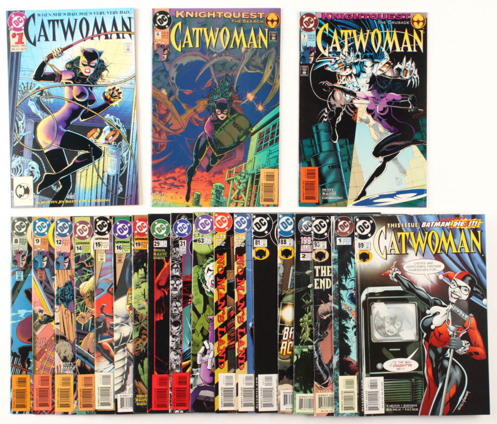 "Lot of (21) ""Catwoman"" DC Comic Books With 1993 Issue #1, 1994 Issue #1, 1998 Issue #63 at PristineAuction.com"