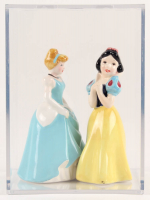 Lot of (2) Vintage Disney Princess Ceramic Figurines with Snow White & Cinderella with Display Case at PristineAuction.com