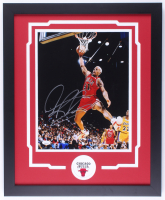Dennis Rodman Signed Bulls 18x22 Custom Framed Photo Display (JSA COA) at PristineAuction.com