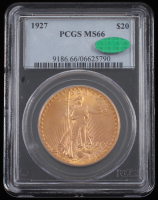 1927 $20 Saint-Gaudens Double Eagle Gold Coin (PCGS MS 66) at PristineAuction.com