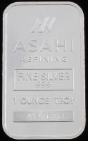 """1 Troy Ounce .999 Fine Silver """"Asahi Refining"""" Bullion Bar at PristineAuction.com"""
