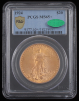 1924 $20 Saint-Gaudens Double Eagle Gold Coin (PCGS MS 65+) at PristineAuction.com