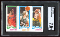 1980-81 Topps #98 47 Scott May / 30 Larry Bird TL / 232 Jack Sikma (SGC 7.5) at PristineAuction.com