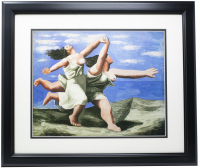 "Pablo Picasso ""Two Women Running on the Beach"" 16x20 Custom Framed Print Display at PristineAuction.com"