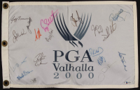 2000 PGA Championship Golf Pin Flag Signed by (18) with Justin Leonard, Billy Mayfair, Ian Woosnam, Sam Torrance & Rory Sabbatini (Beckett LOA) at PristineAuction.com