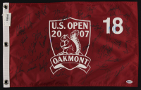 2007 U.S. Open Golf Pin Flag Signed by (38) with Paul Casey, Luke Donald, Justin Rose, Chris DiMarco, Robert Allenby, Zach Johnson (Beckett LOA) at PristineAuction.com