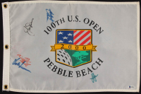 U.S. Open Golf Champions Golf Pin Flag Signed by (5) with Jack Nicklaus, Tom Kite, Hale Irwin, Hubert Green & Lee Janzen (Beckett LOA) at PristineAuction.com
