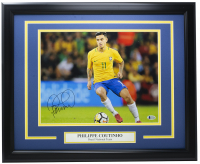 Philippe Coutinho Signed Team Brazil 16x20 Custom Framed Photo (Beckett Hologram) at PristineAuction.com