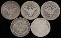 Lot of (5) 1899-1912 Barber Silver Half Dollars With 1899-O, 1900, 1902-O, 1909-O & 1912 at PristineAuction.com
