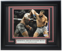 Dominick Reyes Signed 11x14 Custom Framed Photo (PSA Hologram) at PristineAuction.com