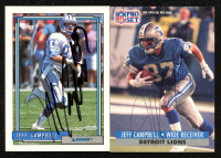 Lot of (2) Jeff Campbell Signed Football Cards with 1991 Pro Set #496 & 1992 Topps #139 (JSA ALOA) at PristineAuction.com