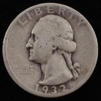 1932 Washington 25¢ Quarter Dollar Silver Coin at PristineAuction.com