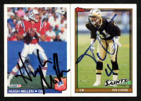 Lot of (2) Hugh Millen & Toi Cook Signed Football Cards (JSA ALOA) at PristineAuction.com