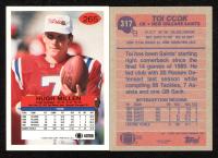 Lot of (2) Hugh Millen & Toi Cook Signed Football Cards (JSA ALOA) at PristineAuction.com