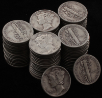 Lot of (75) Mercury Silver Dimes at PristineAuction.com