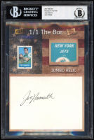 Joe Namath 2019 The Bar Pieces of the Past #NNO (BGS 9) at PristineAuction.com
