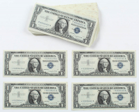 Star Notes - Lot of (100) 1957-A $1 One-Dollar Blue Seal Silver Certificates with Consecutive Serial Numbers at PristineAuction.com