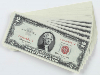 Lot of (50) 1963 $2 Two-Dollar Red Seal U.S. Legal Tender Notes with Consecutive Serial Numbers at PristineAuction.com
