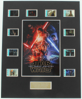"""""""Star Wars: The Force Awakens"""" LE 8x10 Custom Matted Original Film / Movie Cell Display at PristineAuction.com"""