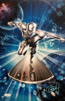 "Greg Horn Signed ""Silver Surfer - Head On"" 11x17 Lithograph (JSA COA) at PristineAuction.com"