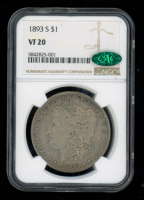 1893-S $1 Morgan Silver Dollar (NGC VF20) (CAC Verified) at PristineAuction.com