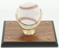Hank Aaron Signed OML Baseball with Display Stand (PSA COA) at PristineAuction.com